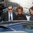Sophia Loren et Daniel Day-Lewis sur le tournage de Nine de Rob Marshall
