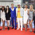 "Jon Bass, Priyanka Chopra, Alexandra Daddario, David Hasselhoff, Dwayne Johnson, Ilfenesh Hadera, Kelly Rohrbach et Zac Efron lors du photocall du film ""Baywatch : Alerte à Malibu"" au centre Sony de Berlin le 30 mai 2017."