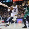 LeBron James lors du match Cleveland Cavaliers v Boston Celtics à Cleveland. Le 21 mai 2017.