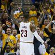 LeBron James lors du match Cleveland Cavaliers v Toronto Raptors à Cleveland. Le 3 mai 2017.