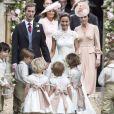 Pippa Middleton et son époux James Matthews lors de leur mariage à Englefield dans le Berkshire (Angleterre) le 20 mai 2017.