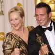 Jean Dujardin et Meryl Streep lors des Oscars le 26 février 2012