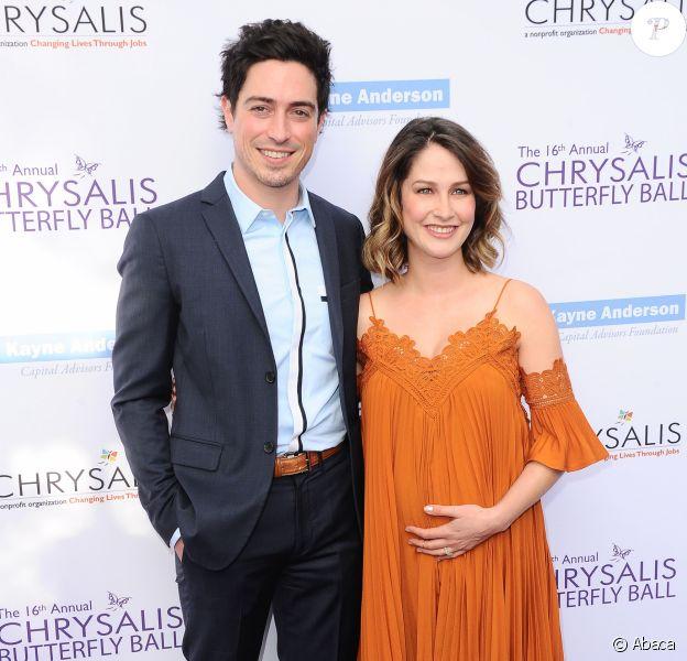 Ben Feldman et sa femme Michelle, enceinte, lors du 16e Chrysalis Butterfly Ball à Los Angeles, CA, le 3 juin 2017