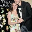 """Mathieu Johann et sa compagne Clémence Castel - Soirée pour """"La voix de l'enfant"""", à Paris, le 26 juin 2008."""