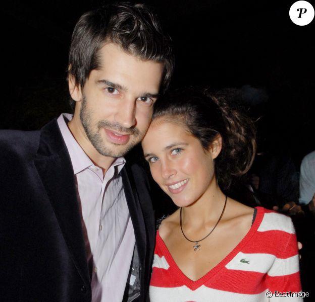 """Mathieu Johann et sa compagne Clémence Castel - Soirée pour la finale de """"Koh Lanta"""", à Paris le 11 septembre 2007."""