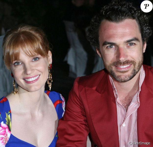 "Jessica Chastain et Gian Luca Passi de Preposulo- People au 12ème Festival du film ""Ischia Global Film Music Festival"", le 12 juillet 2014."