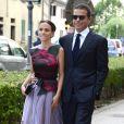 Maria Vittoria Caovilla et son mari Edoardo Caovilla - Les invités arrivent au mariage de Jessica Chastain et de Gian Luca Passi de Preposulo à la Villa Tiepolo Passi à Trévise en Italie le 10 juin 2017