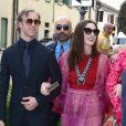 Adam Shulman et sa femme Anne Hathaway - Les invités arrivent au mariage de Jessica Chastain et de Gian Luca Passi de Preposulo à la Villa Tiepolo Passi à Trévise en Italie le 10 juin 2017.