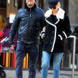 Jennifer Lawrence et son compagnon Darren Aronofsky se baladent à New York le 2 janvier 2017.