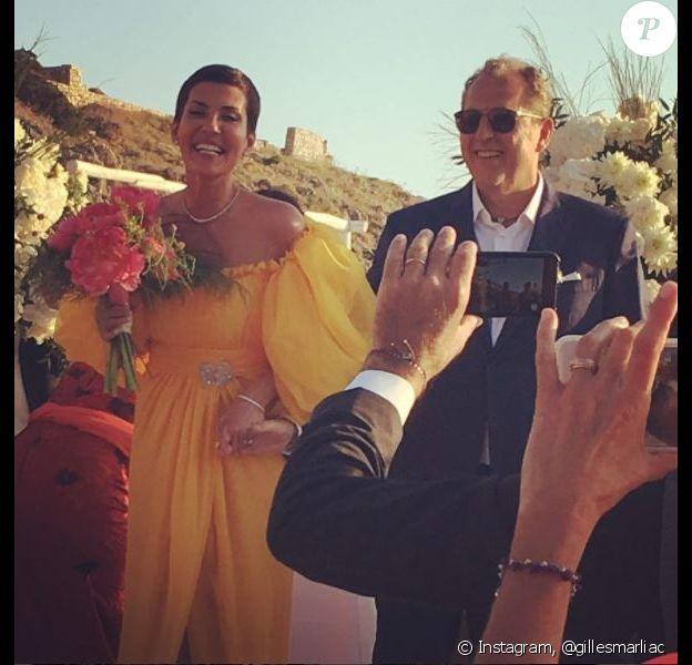 Mariage de Cristina Cordula et Frédéric Cassin au Lido del Faro. Capri, le 9 juin 2017.