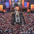 """Exclusif - Amir Haddad - Emission """"La chanson de l'année fête la musique"""" dans les arènes de Nîmes, diffusée en direct sur TF1 le 17 juin 2017. Pour la treizième édition de La Chanson de L'année, c'est l'artiste Amir avec son titre """"On dirait"""" qui a été plébiscité par les votes du public. © Bruno Bebert/Bestimage"""