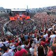 """Exclusif - Une vue générale pendant le passage de Charlie Puth sur scène - Emission """"La chanson de l'année fête la musique"""" dans les arènes de Nîmes, diffusée en direct sur TF1 le 17 juin 2017. Pour la treizième édition de La Chanson de L'année, c'est l'artiste Amir avec son titre """"On dirait"""" qui a été plébiscité par les votes du public. © Bruno Bebert/Bestimage"""