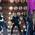 """Exclusif - La troupe de la comédie musicale """"Grease"""" - Emission """"La chanson de l'année fête la musique"""" dans les arènes de Nîmes, diffusée en direct sur TF1 le 17 juin 2017. Pour la treizième édition de La Chanson de L'année, c'est l'artiste Amir avec son titre """"On dirait"""" qui a été plébiscité par les votes du public. © Bruno Bebert/Bestimage"""
