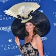 Sophie Thalmann en robe C. Guillarmé (Miss France 1998) - 168e Prix de Diane Longines à l'hippodrome de Chantilly, France, le 18 juin 2017. © Giancarlo Gorassini/Bestimage