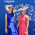 Irène Savador et Mikaela Shiffrin - 168e Prix de Diane Longines à l'hippodrome de Chantilly, France, le 18 juin 2017. © Giancarlo Gorassini/Bestimage