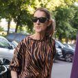 Céline Dion s'est rendue au centre de fitness Ken Club avant de regagner le Royal Monceau à Paris, le 19 juin 2017.