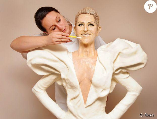 Statue de cire de Céline Dion réalisée pour les 10 ans de l'02 Arena à Londres.