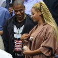Beyoncé et son mari Jay Z pendant l'US Open 2016 au USTA Billie Jean King National Tennis Center à Flushing Meadow, New York, le 1er Septembre 2016.