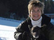 Véronique Jannot, sous la neige et avec Woofy, c'est... plus belle la vie !