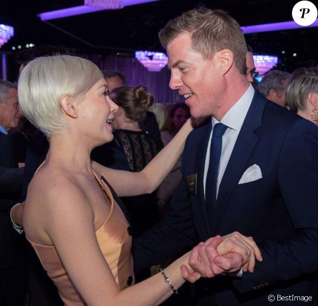 Michelle Williams et Kevin Walsh - People à la soirée Oscar Nominee Luncheon à l'hôtel Beverly Hilton à Beverly Hills, le 6 février 2017.
