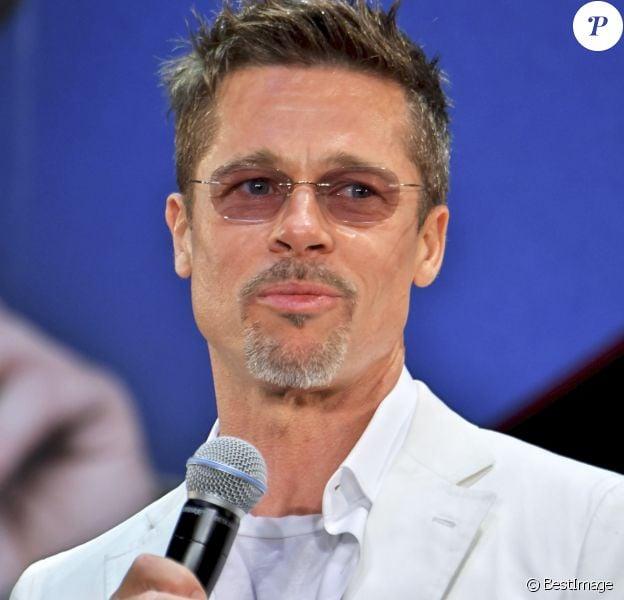 """Brad Pitt à la première de """"War Machine"""" à Tokyo, le 23 mai 2017."""