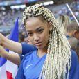 Exclusif - Sephora (la compagne de Kingsley Coman) - Arrivées au match de la finale de l'Euro 2016 Portugal-France au Stade de France à Saint-Denis, France, le 10 juin 2016. © Stéphane Allaman/Bestimage