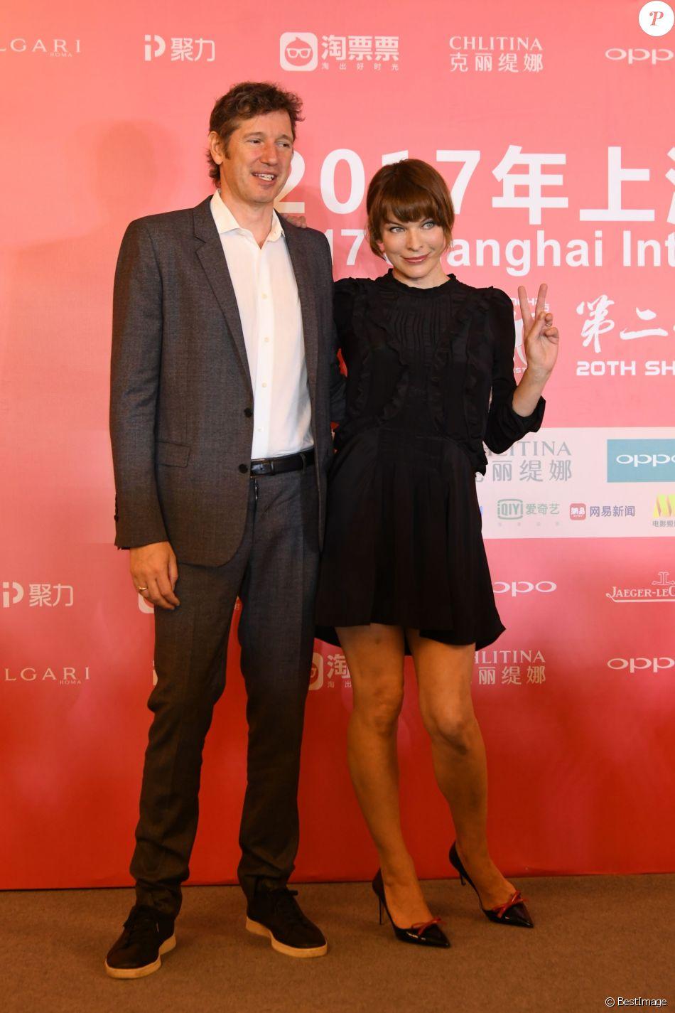 Paul William Scott Anderson et sa femme Milla Jovovich lors de la 20ème édition du festival du film de Shanghai, Chine, le 26 juin 2017. © TPG/Zuma Press/Bestimage