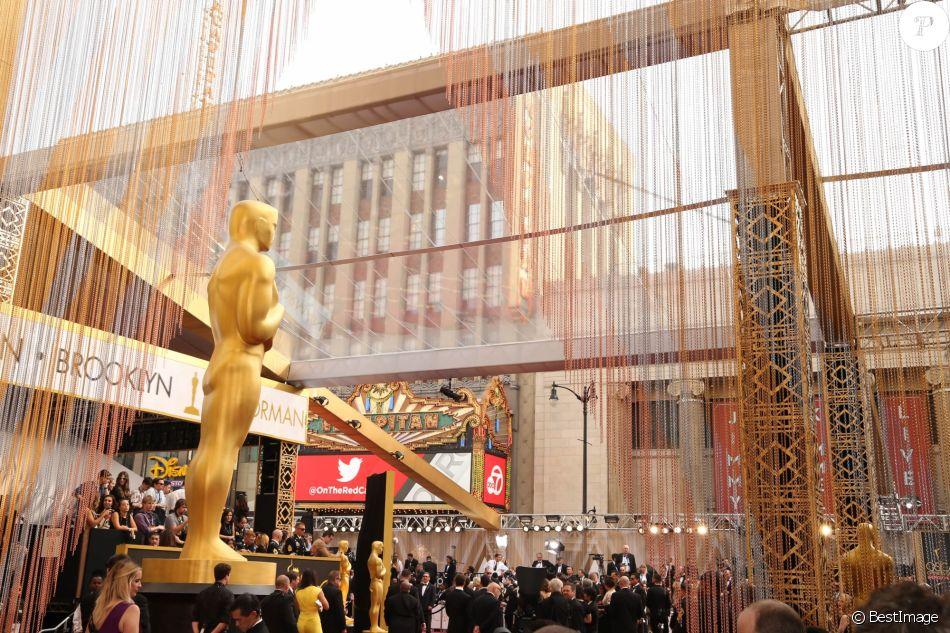Illustration - Photocall de la 88e cérémonie des Oscars au Dolby Theatre à Hollywood. Le 28 février 2016