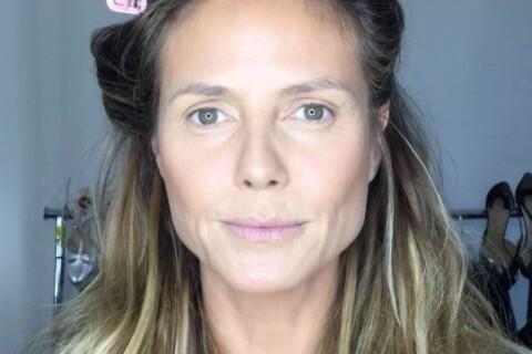 Heidi Klum sans maquillage : Les coulisses de sa mise en beauté