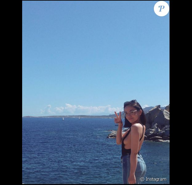 Agathe Auproux en Corse, à Calvi, le 2 juillet 2017.
