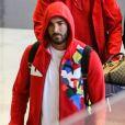 Karim Benzema à son arrivée à l'aéroport Roissy Charles-de-Gaulle de retour de Los Angeles le 16 juin 2016.