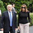 Melania et Donald Trump quittent la Maison Blanche, à Washington, le 5 juillet 2017.