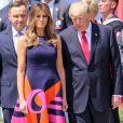 Donald et Melania Trump en visite à Varsovie, le 6 juillet 2017.