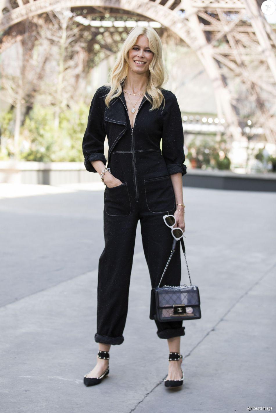 Schiffer mode Couture de Claudia assiste automne défilé Haute au 4qxSxT