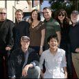 William Petersen récompensé sur Hollywood Boulevard, entouré de toute l'équipe des Experts