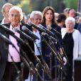 Michel Legrand lors de la cérémonie d'hommage aux victimes de l'attentat du 14 juillet 2016 à Nice, le 14 juillet 2017. © Bruno Bébert/Bestimage