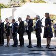 Daniel Benoin, Michèle Laroque,Patrick Timsit, François Berléand, Michel Legrand, Patrick Chesnais, Michel Boujenah, Elsa Zylberstein, Line Renaud Commémoration de l'attentat de la promenade des Anglais a Nice le 14 juillet 2017