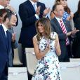 Edouard Philippe, Melania Trump et les membres du gouvernement lors du défilé du 14 juillet (fête nationale), place de la Concorde, à Paris, le 14 juillet 2017, avec comme invité d'honneur le président des Etats-Unis. © Dominique Jacovides/Bestimage