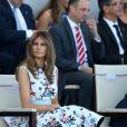 Melania Trump lors du défilé du 14 juillet (fête nationale), place de la Concorde, à Paris, le 14 juillet 2017, avec comme invité d'honneur le président des Etats-Unis. © Dominique Jacovides/Bestimage