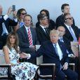 Melania Trump, son mari le président des Etats-Unis Donald Trump lors du défilé du 14 juillet (fête nationale), place de la Concorde, à Paris, le 14 juillet 2017, avec comme invité d'honneur le président des Etats-Unis. © Dominique Jacovides/Bestimage
