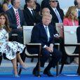 Melania Trump et son mari le président des Etats-Unis Donald Trump lors du défilé du 14 juillet (fête nationale), place de la Concorde, à Paris, le 14 juillet 2017, avec comme invité d'honneur le président des Etats-Unis. © Dominique Jacovides/Bestimage