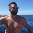 Kendji Girac en vacances en Corse le 16 juillet 2017.