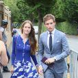 Eddie Redmayne et sa femme Hannah le 16 juillet 2017 à Wimbledon pour la finale entre Roger Federer et Marin Cilic. Le Suisse a remporté son 8e Wimbledon et son 19e tournoi du Grand Chelem.