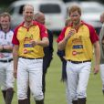 "Le prince William et le prince Harry au tournoi de polo ""The Jerudong Park Trophy"" au club de Cirencester le 15 juillet 2017"