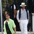Penélope Cruz, Edgar Ramirez et Ricky Martin  sur le tournage de Versace : American Crime Story' à Miami, le 17 mai 2017