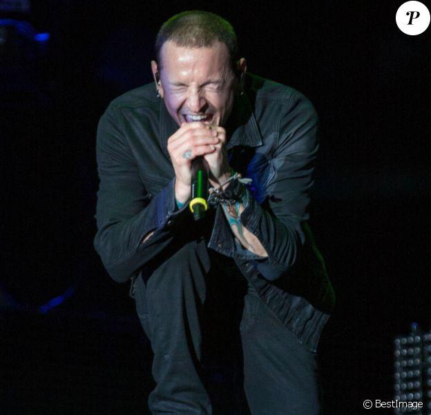 """Chester Bennington - Linkin Park en concert au """"MGM Resorts Festival Grounds"""" à Las vegas, le 9 mai 2015"""
