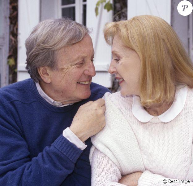 Claude Rich et sa femme Delphine Rich le 6 novembre 1997.