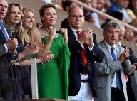 """Albert et Charlene de Monaco vibrent à l'unisson pour """"la foudre"""" Usain Bolt"""