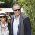 Michel Leeb et sa femme Béatrice à Roland-Garros le 5 juin 2012.