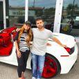 Blac Chyna pose avec sa nouvelle Ferrari - Photo publiée sur Instagram, le 24 juillet 2017